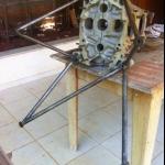 Berço motor Continental C-90  |  Motores