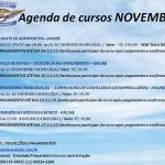 AGENDA DE CURSOS PARA NOVEMBRO oferta Cursos, Escolas de Aviação