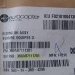 FITTING RH ASSY FERRURE EQUIPEE D PN 360a87111201 oferta Peças diversas