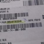 Doubler LH Renfort G PN 36a87303246 oferta Peças diversas