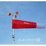 Biruta Estação + Anemômetro + leitor + Mastro 2,20m Vermelha oferta Aeroportos