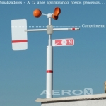 Anemômetro C Leitor Digital Velocidade + Ind. Direção  oferta Aeroportos