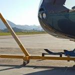Barra de reboque para helicópteros Robinson  |  Trator, Garfo, GPU